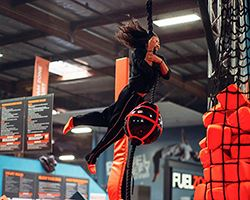 SkyZone-Photo Ninja Warrior Course