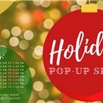 holiday pop up shops