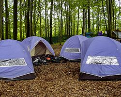 Whitewater Challengers purple tents