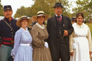 Group Shot of People- 19th Century Reenactors